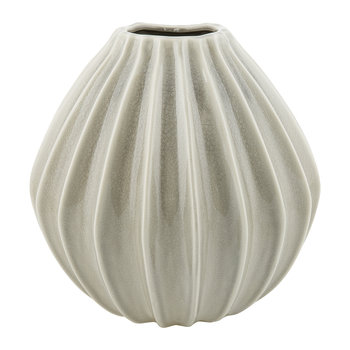 'Wide' Ceramic Vase - Rainy Day