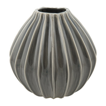 'Wide' Ceramic Vase - Smoked Pearl