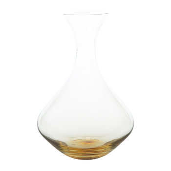 Amber Mouth Blown Glass Decanter - Clear/Caramel