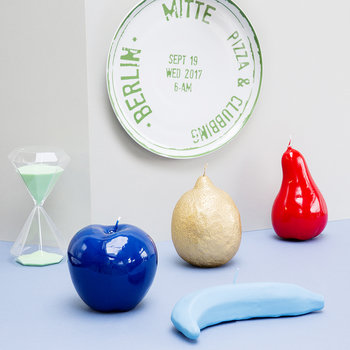 Wax Apple Candle - Shiny Blue