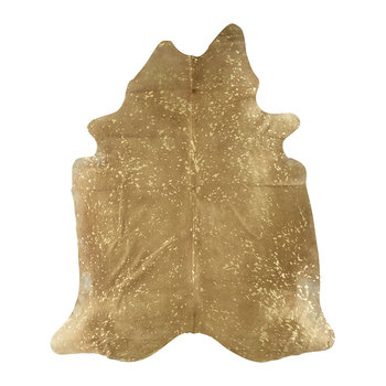 Metallic Acid Cowhide Rug - Natural/Gold