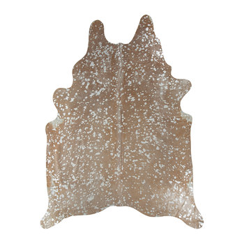 Metallic Acid Cowhide Rug - Natural/Silver