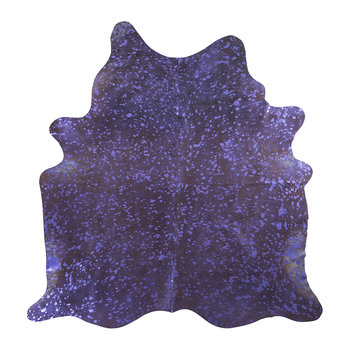 Metallic Acid Cowhide Rug - Purple