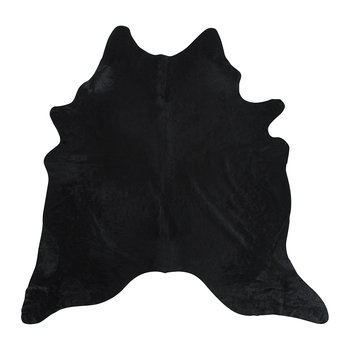 Natural Cowhide Rug - Black