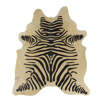 Zebra Print Cowhide Rug - Light