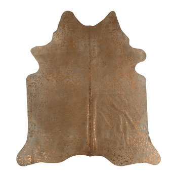 Metallic Acid Cowhide Rug - Natural/Copper