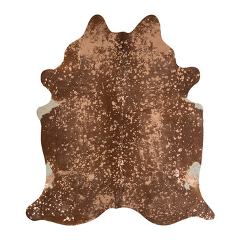 Metallic Acid Cowhide Rug - Natural/Rose Gold