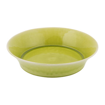 Tourron Giant Deep Round Dish - Lime Green