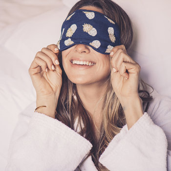 Ananas Eye Mask - Indigo