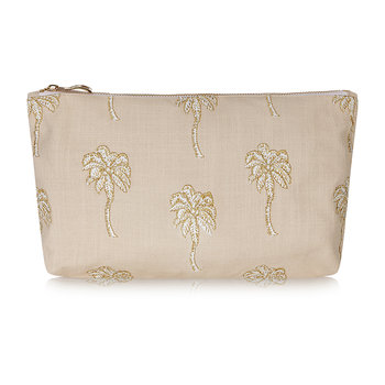 Palmier Wash/Clutch Bag - Taupe