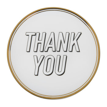 Funky Table Plate - Thank You - 15cm