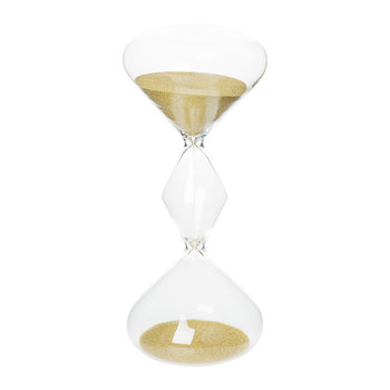 Hourglass Sand Timer - 5 Minutes - Gold