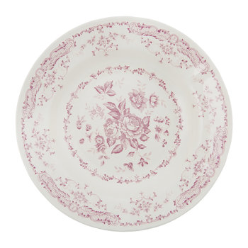 Rose Patterned Soup/Pasta Bowl - Pink