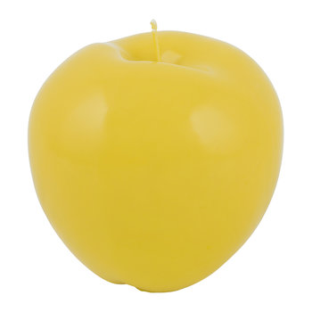 Wax Apple Candle - Shiny Yellow