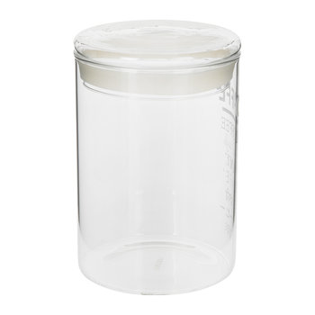 Word Coffee Jar - White