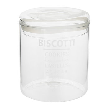 Word Cookie Jar - White