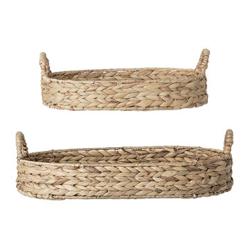 Water Hyacinth Woven Bread Basket - Set of 2