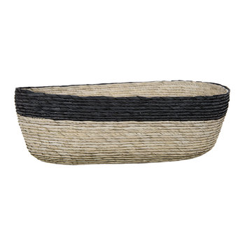 Oval Stripe Basket - Black