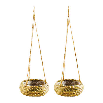 Hanging Seagrass Planter - Set of 2