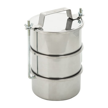 Three Tier Picnic Container - Stainless Steel
