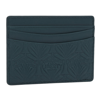 Embossed Card Holder - Petrol