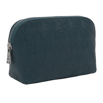 Embossed Cosmetic Bag - Petrol