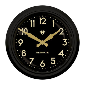 '50s Electric Clock - Matt Black - Black Dial