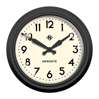 '50s Electric Clock - Matt Black - White Dial