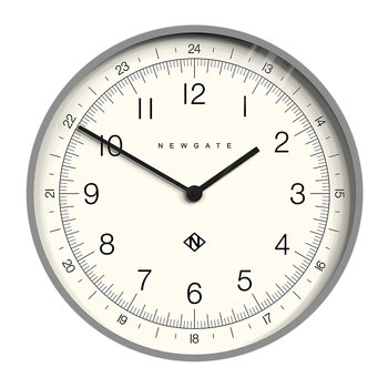 Number One Academy Wall Clock - Posh Grey