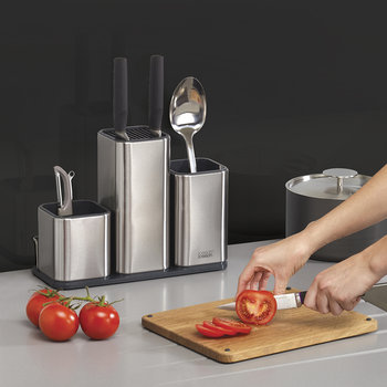 Counter Store 100 Worktop Organiser - Stainless Steel/Oak
