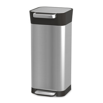 Titan Slim Trash Compacter Bin - Stainless Steel - Stainless Steel