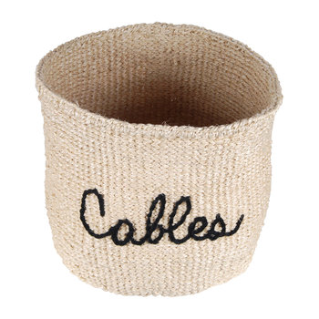 'Cables' Embroidered Hand Woven Basket