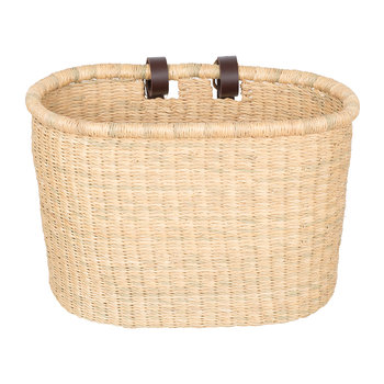 Buli Hand Woven Bicycle Basket - Natural