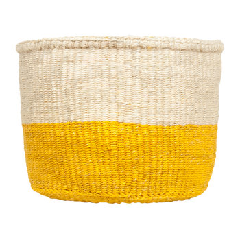 Colour Block Alizeti Hand Woven Basket - Yellow