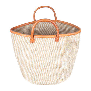 Heri Hand Woven Laundry/Storage Basket - Beige/White Speckled
