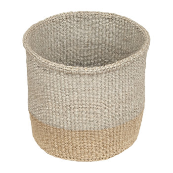 Linear Fusion Mbili Hand Woven Basket