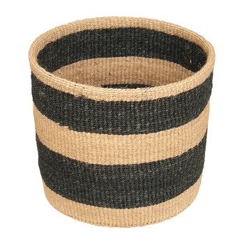 Linear Fusion Mchoro Hand Woven Basket