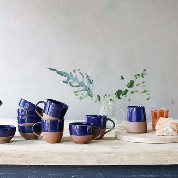 Mali Terracotta Coffee Mug - Navy