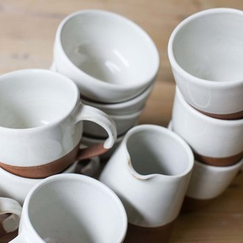 Mali Terracotta Large Mug - White