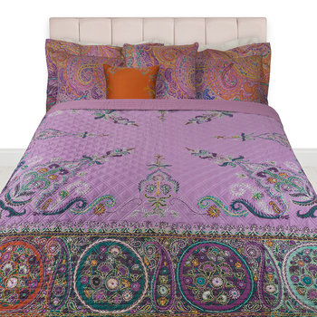 Carrie Quilted Bedspread - Fuchsia
