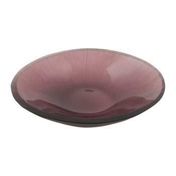 Line Cut Glass Soap Dish - Purple