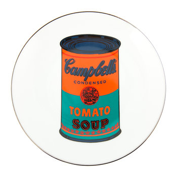 Andy Warhol Plate - Campbell's Soup - Orange/Blue