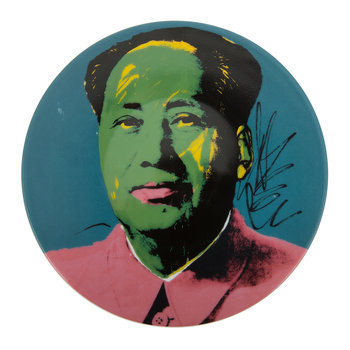 Assiette Andy Warhol - Mao - Veste Rose