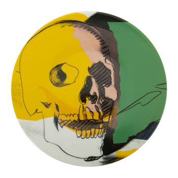 Andy Warhol Plate - Skull - Yellow/Pink