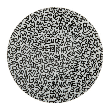 Keith Haring 'Black Pattern' Plate