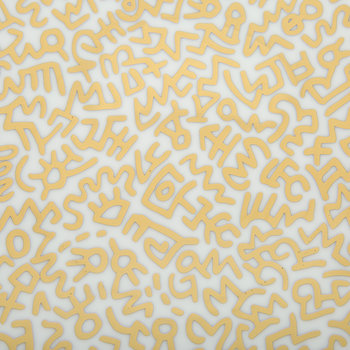 Keith Haring 'Gold Pattern' Plate