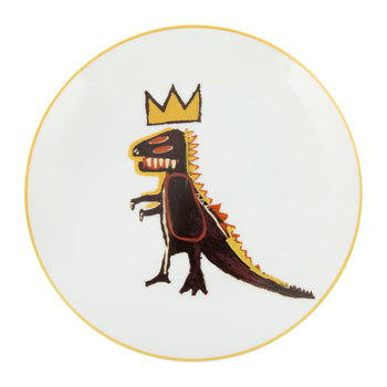Assiette « Dragon d'Or » Jean-Michel Basquiat