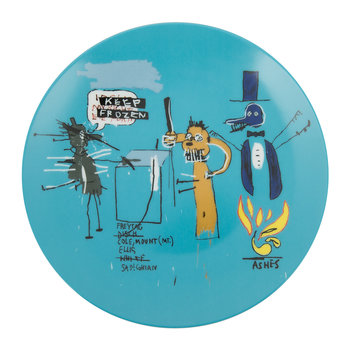 Jean-Michel Basquiat 'Keep Frozen' Plate