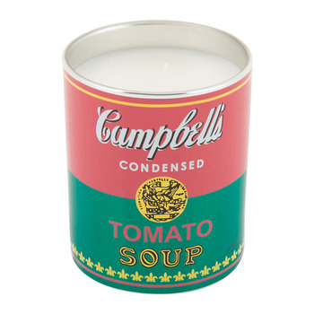 Andy Warhol Scented Candle - Campbell's Soup - Pink/Blue