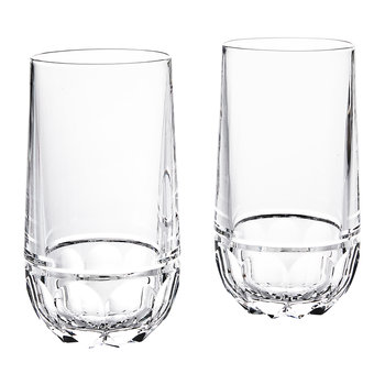 Monroe Crystal Highball Glasses - Set of 2